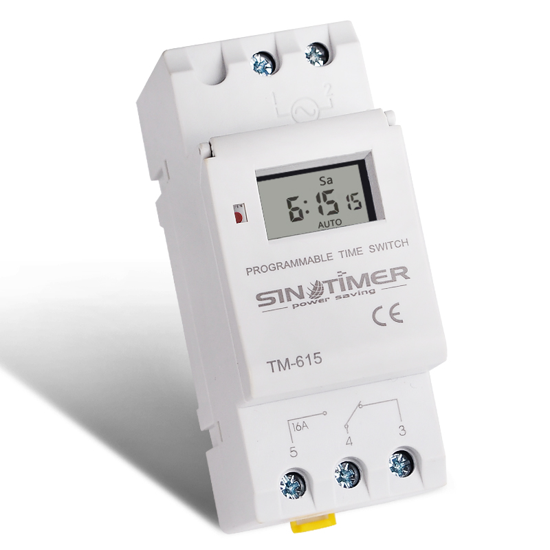 DIN rail Weekly programmable Timer