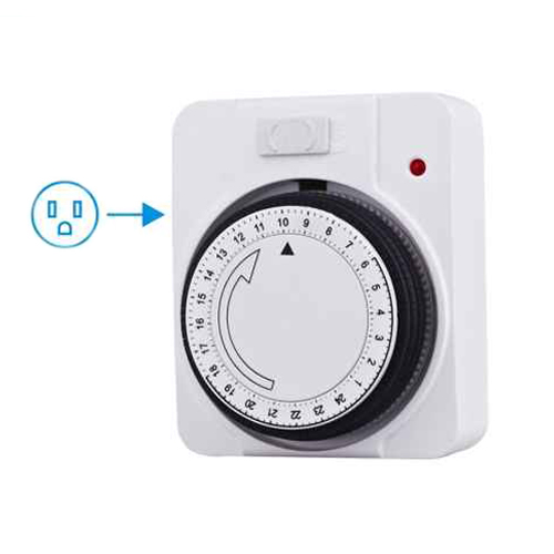 US 24hrs Mechanical Plug in Timer