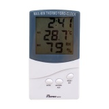 Indoor Thermometer Hygrometer Clock