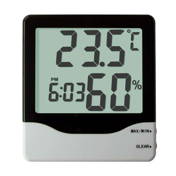 Indoor Thermo-hygrometer with Clock