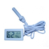 In&Out Small Thermo Hygrometer in white
