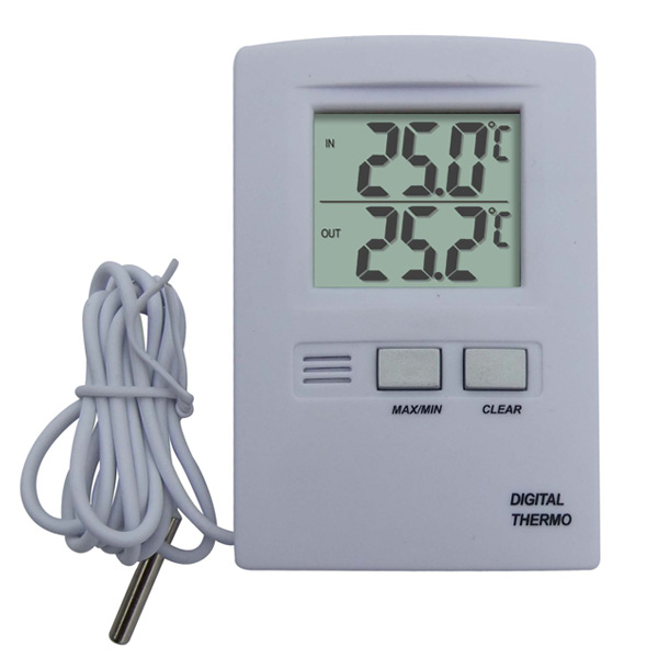 Indoor Outdoor Thermometer with Probe