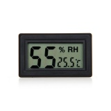 Small Digital Thermometer Hygrometer Black