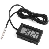 In&Out Small Thermometer in Black